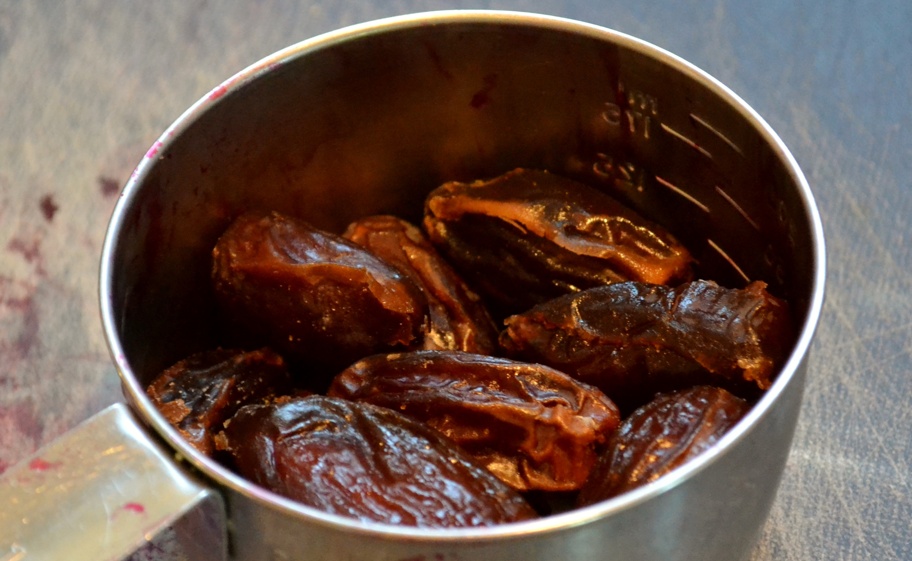 dried, pitted dates